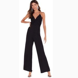 Nasty Gal Black Wide Leg Jumpsuit